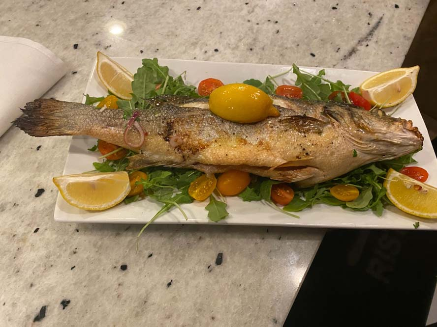 whole fish on plate